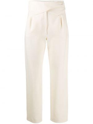 Шерстяные прямые брюки с воротником с карманами Blazé Milano