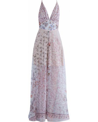 Платье макси с цветочным принтом с V-образным вырезом Etro