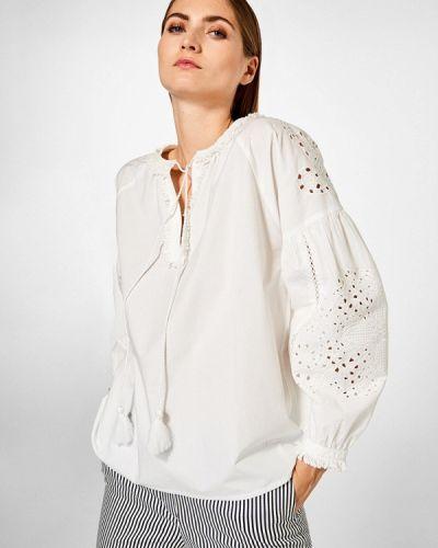 Блузка белая индийский Pedro Del Hierro