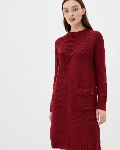 Свободное бордовое расклешенное платье Finn Flare