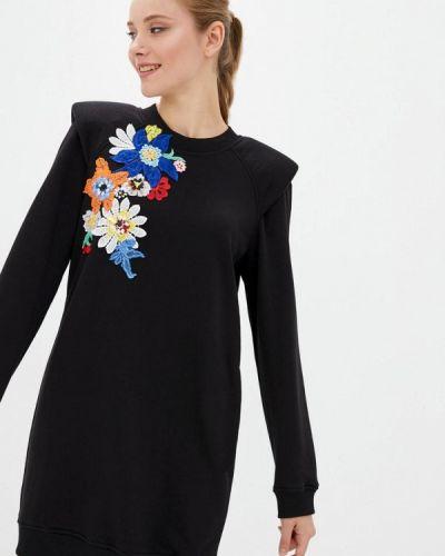 Прямое черное платье O&j