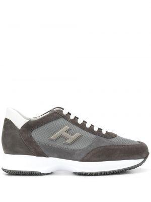 Кроссовки сетчатые на каблуке с сеткой Hogan