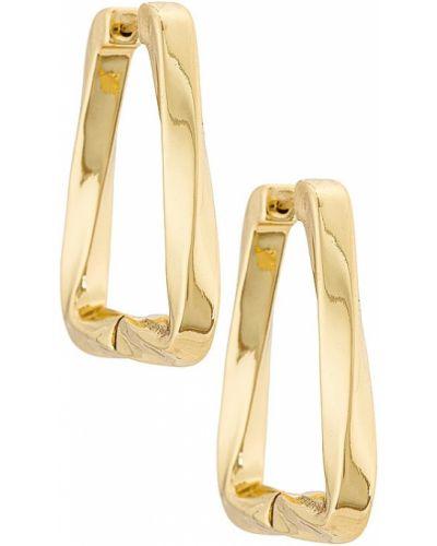 Серьги золотые позолоченные классические Baublebar