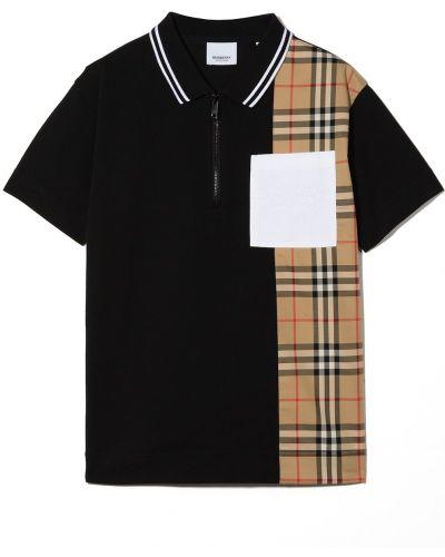 Czarna koszula bawełniana Burberry Kids