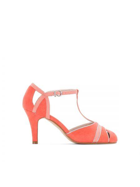 Туфли на высоком каблуке с ремешком кожаные Mademoiselle R