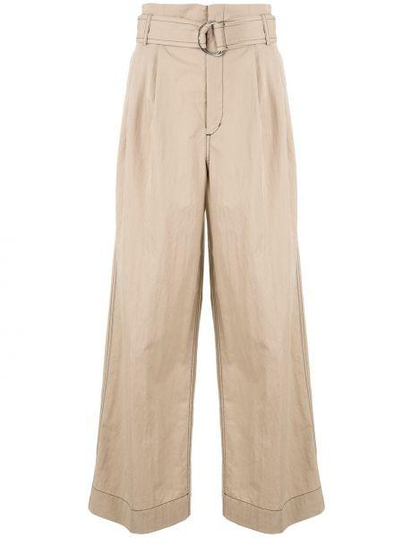 Коричневые нейлоновые свободные брюки с карманами свободного кроя G.v.g.v.