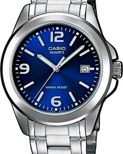 Часы водонепроницаемые с подсветкой синий Casio