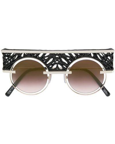 Солнцезащитные очки черные хаки Oxydo