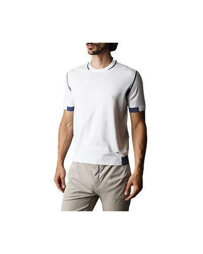Хлопковая белая футболка Castello D'oro