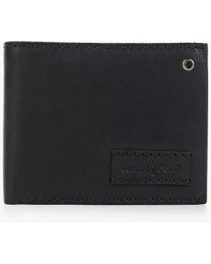 Кожаный кошелек - черный Gianni Conti