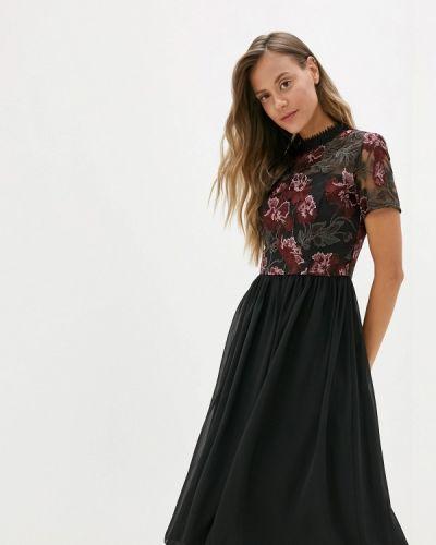 Вечернее платье осеннее черное Chi Chi London