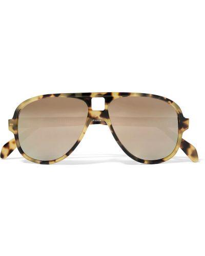 Okulary skorzane - brązowe Acne Studios