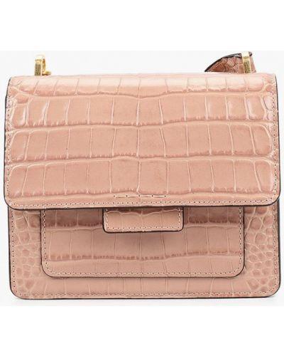 Кожаная сумка через плечо - розовая Gianni Chiarini