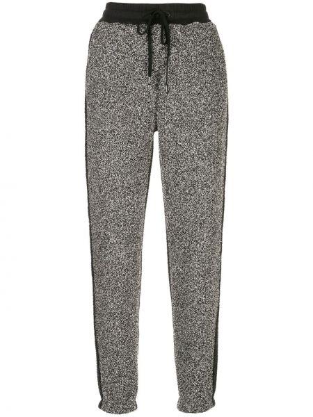 С кулиской серые спортивные брюки с карманами с высокой посадкой Alala