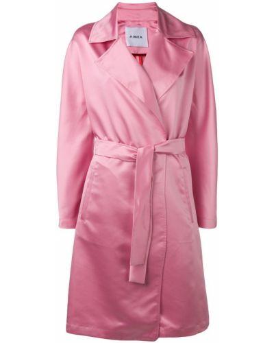 Розовое пальто с капюшоном Ainea