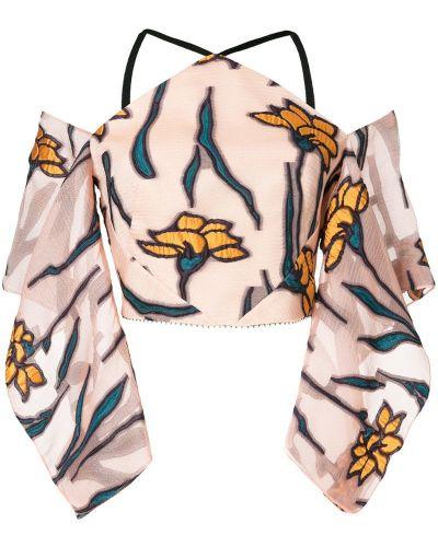 Блузка с вышивкой спущенная Roland Mouret