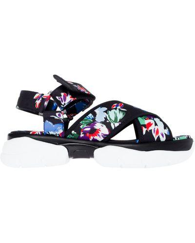 Кожаные сандалии - черные Msgm