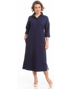 Прямое платье на пуговицах с воротником с карманами Merlis