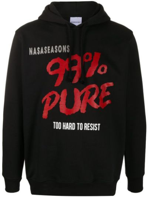 Czarna bluza długa z kapturem z długimi rękawami Nasaseasons