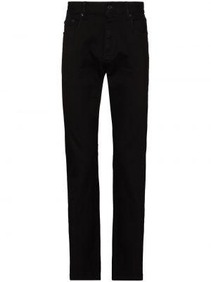С завышенной талией черные прямые джинсы Ermenegildo Zegna