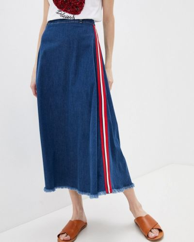 Синяя юбка свободного кроя Liu Jo
