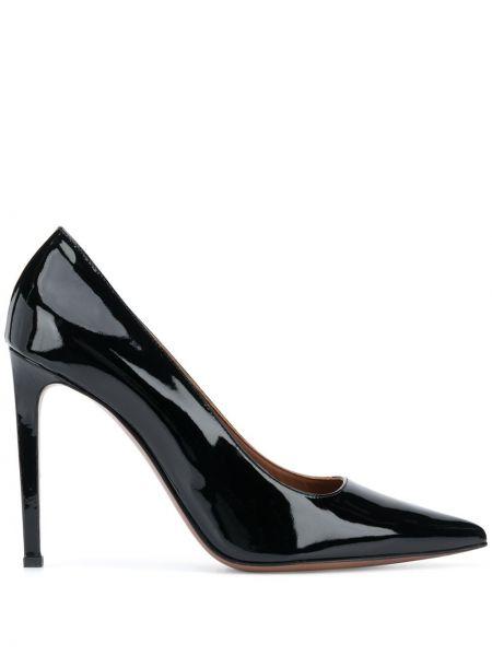 Кожаные лаковые черные туфли-лодочки L'autre Chose