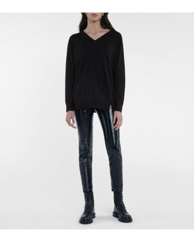 Черный открытый шерстяной свитер Dorothee Schumacher