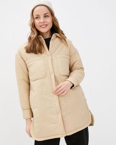 Утепленная бежевая куртка Befree