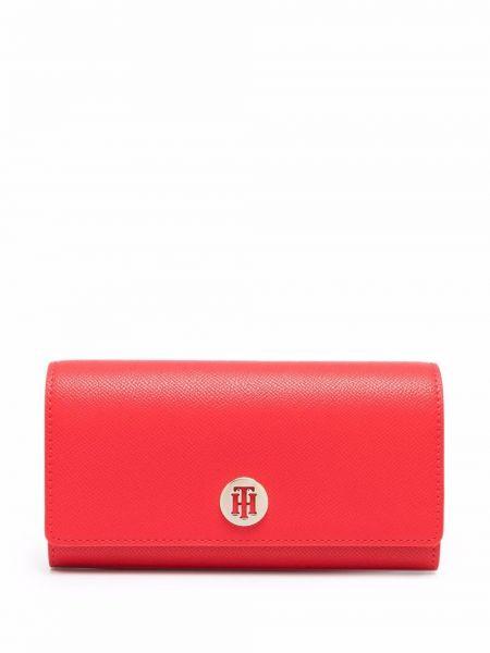 Красный кожаный кошелек Tommy Hilfiger