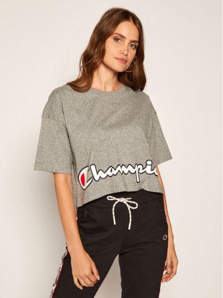 T-shirt z printem - szara Champion