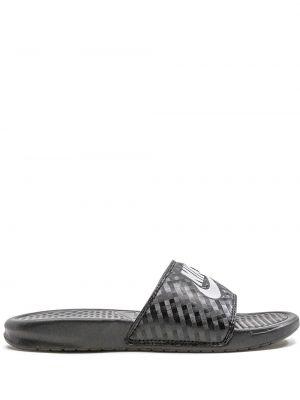 Otwarty włókienniczy czarny sneakersy otwarty palec u nogi Nike
