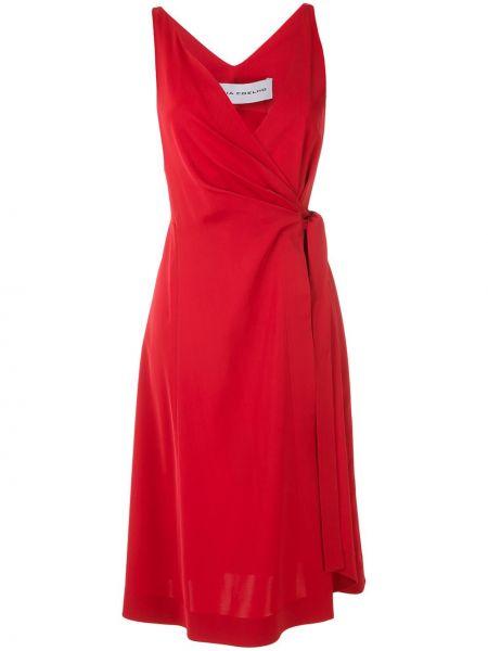 Платье с запахом с V-образным вырезом Gloria Coelho