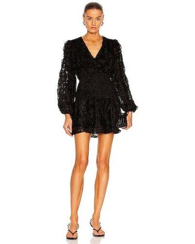 Бархатное платье мини - черное Rococo Sand