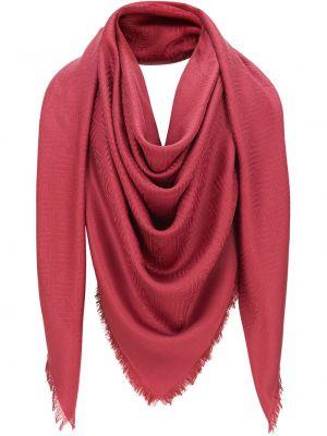 Шерстяная шаль - красная Fendi