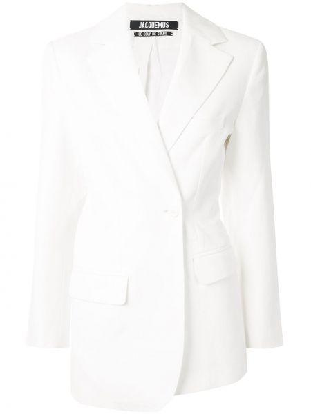 Приталенный белый короткая куртка двубортный Jacquemus