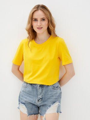Желтая футболка с короткими рукавами Anastasya Barsukova