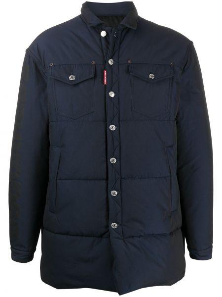 Długi płaszcz klasyczny kurtka grochowa Dsquared2