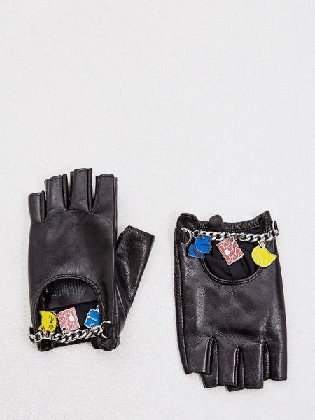 Перчатки весенние черные Karl Lagerfeld