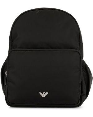 Czarny plecak Emporio Armani Kids