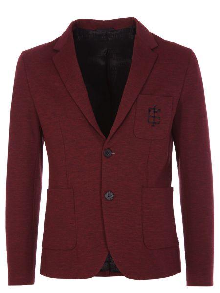 Красный длинный пиджак на пуговицах из вискозы Dirk Bikkembergs