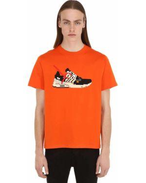 Pomarańczowy t-shirt bawełniany 8-bit By Mhrs