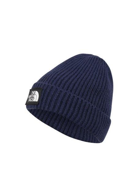 Prążkowana niebieska czapka The North Face