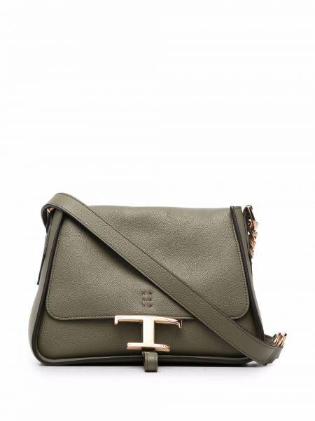 Зеленая сумка с логотипом Tods
