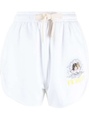 Białe szorty bawełniane Fiorucci