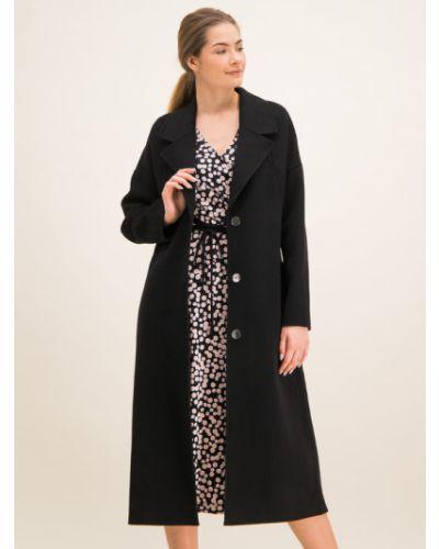 Czarny płaszcz wełniany Laurel