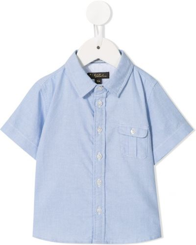 Niebieska koszula bawełniana Velveteen