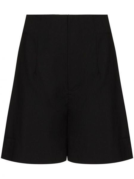 Черные шерстяные шорты St. Agni