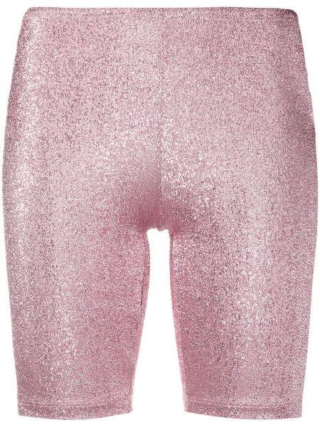 Розовые короткие шорты Paco Rabanne