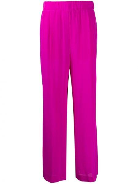 Розовые свободные брюки свободного кроя с поясом Jejia
