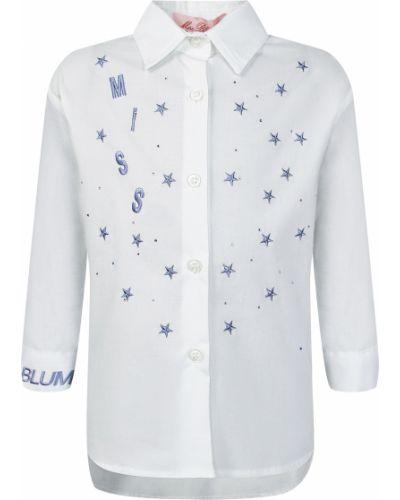 Хлопковая блузка - белая Miss Blumarine